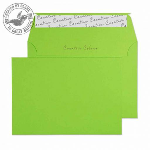 Blake Creative Colour C6 Wallet Peel&Seal 120gsm Lime Green Ref 107 [Pack 500]