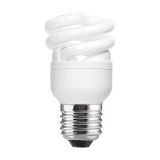 GE 8W T2 Heliax E27 Spiral Cpt Flres Bulb Screw Fit 470lm EEC-A ExtWrmWhite Ref85638 *Upto 10DayLeadtime*