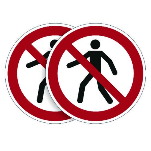 Durable Pedestrians Prohibited Sign (Pack of 5) BOGOF DB810741