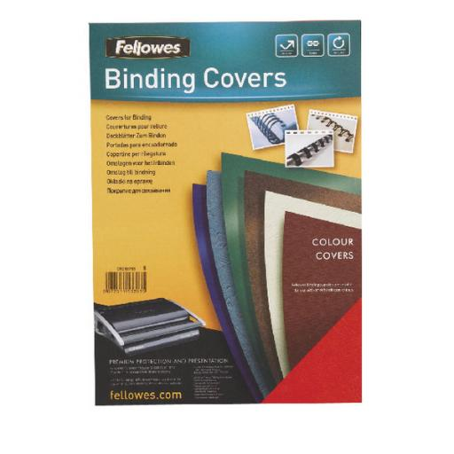 Fellowes Delta Black Leather Board Covers A4 (Pack of 100) 5370402
