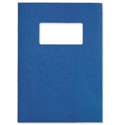 GBC Antelope (A4) Binding Covers Leather-Look with Window (Royal Blue) - 2 x Pack of 50 Binding Covers
