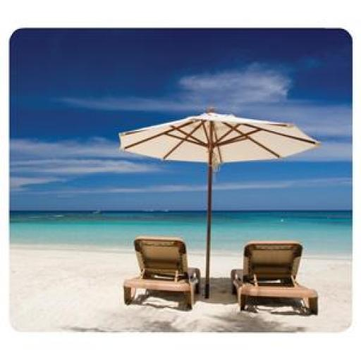 Fellowes Earth Series Recycled Mouse Pad (Beach Chairs)