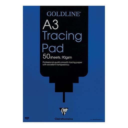 Goldline Professional Tracing Pad 90gsm Acid-free Paper 50 Sheets A3 Ref GPT1A3Z [Pack 5]