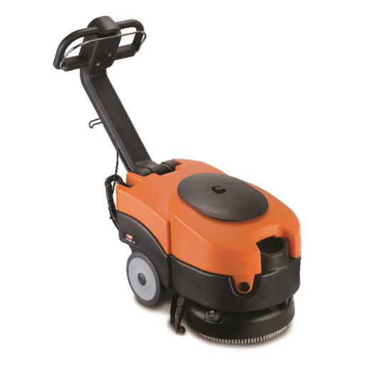 Vax Commercial Black and Orange Battery Powered Scrubber Dryer VCSD-02