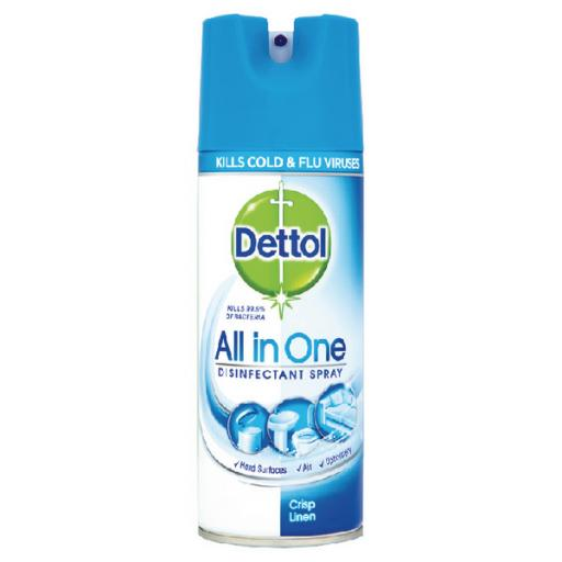 Dettol Antibacterial All in One Disinfectant Spray Crisp Linen 400ml 3021337