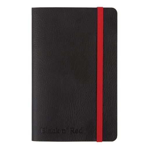Black By Black n Red Business Journal Book Soft Cover 90gsm Ruled and Numbered 144pp A6 Ref 400051205