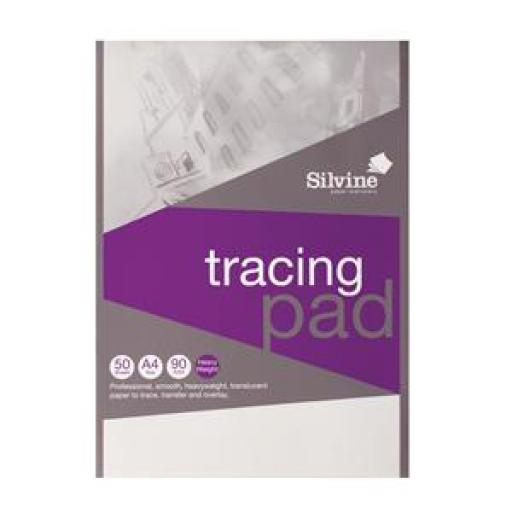 Silvine (A4) Professional Tracing Pad Acid Free Paper 90gsm 50 Sheets (Prize Draw) April-December 2016