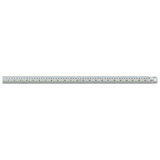 Linex Ruler Stainless Steel Imperial and Metric with Conversion Table 600mm Silver Ref LXESL60