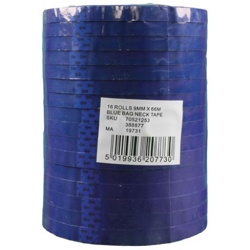 Blue Polypropylene Tape 9mm x66m (Pack of 16) 70521253