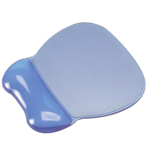 Mouse Mat Pad Wrist Rest Non Skid Easy Clean Soft Gel Transparent Blue