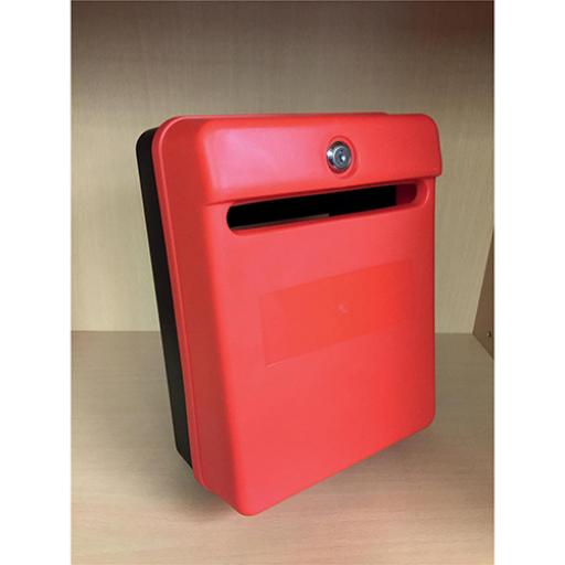 Post or Suggestion Box Wall Mountable with Fixings 240x113x325mm Red