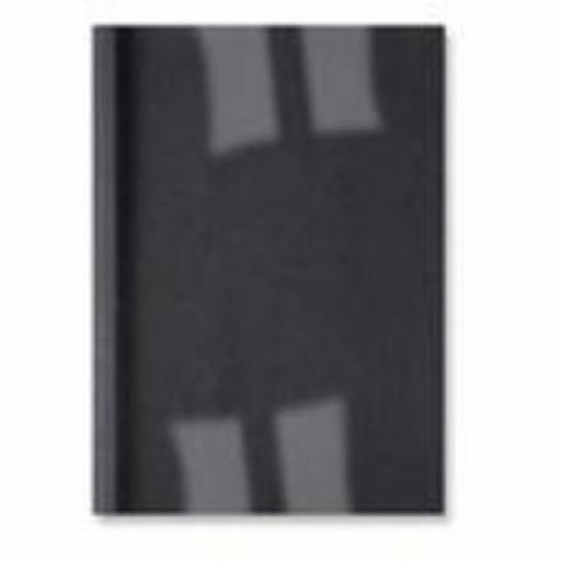 GBC LeatherGrain (A4) Thermal Binding Covers 3mm 250gsm PVC/Leathergrain Back Clear/Black (Pack of 100)