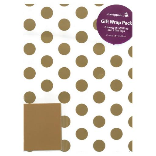 Regent Packaged Wrap Gold Spots (Pack of 12) F747