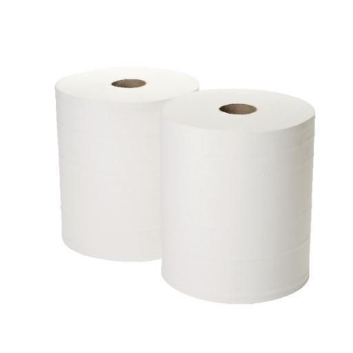 2Work 360mx280mm White 2-Ply Forecourt Roll Pack of 2 1WH100