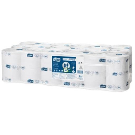 Tork Toilet Roll Mid-size Coreless 2-ply 93x125mm 900 Sheets White Ref 472199 [Pack 36]