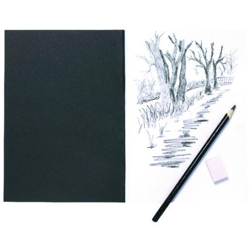 A5 Black Softback Cover Sketch Book 40 Pages (Pack of 5) 301727