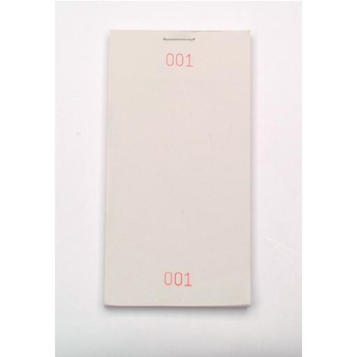 Restaurant Pad 127mmx64mm Single-Part