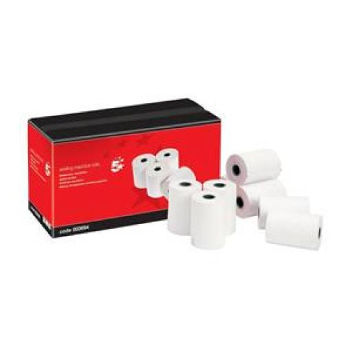 5 Star Office Adding Machine Roll Single Ply 55gsm W44xD44xCore12.7mm White [Pack 20]