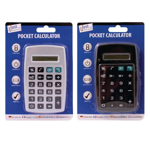 Tallon Black/Silver 8-Digit Pocket Calculator (Pack of 12) 6178