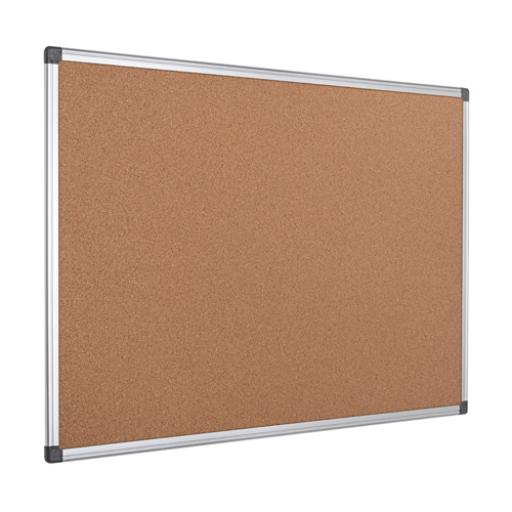 Bi-Office Aluminium Frame Cork Notice Board 1200x900mm CA051170