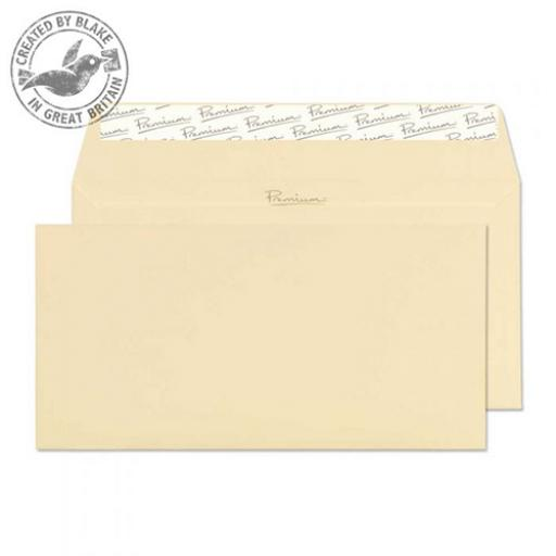 Blake Premium Envelope Wallet P&S 120gsm Vellum Laid DL [Pack 500] Ref 95882 [3 For 2] Apr-Jun 2018