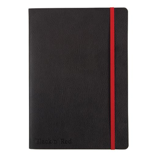 Black By Black n Red Business Journal Book Soft Cover 90gsm Ruled and Numbered 144pp A5 Ref 400051204