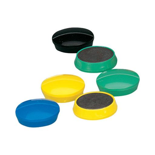 5 Star Office Round Plastic Covered Magnets 30mm Assorted [Pack 10]