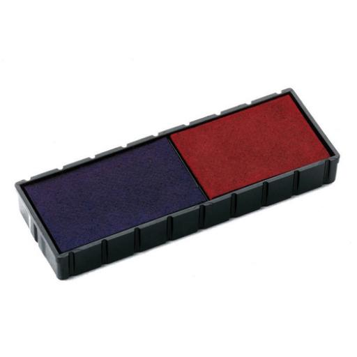Colop E/12/2 Replacement Stamp Pad Blue /Red (Pack of 2) E/12/2