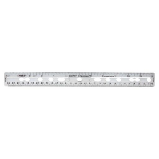 Helix Ring Binder Ruler Clear L25025