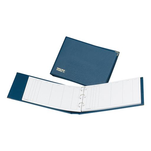 Guildhall Visitors Book Loose-leaf 3-Ring Binder PVC 50 Sheets 236x349mm Blue Ref T40Z