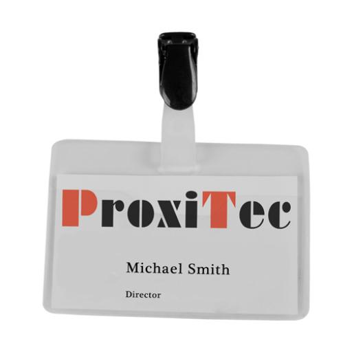 Visitor Name Badge 60x90mm 8009213 (Pack of 25)