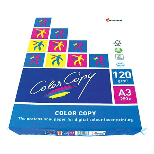 Color Copy Paper Premium Super Smooth 120gsm FSC A3 White Ref CCW1030 [250 Sheets]