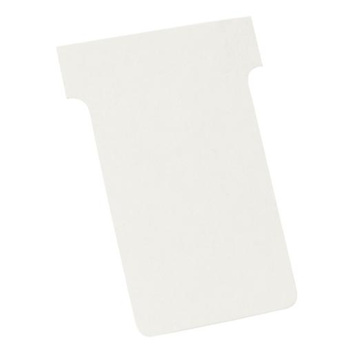 Nobo T-Cards 160gsm Tab Top 15mm W61x Bottom W48.5x Full H86mm Size 2 White Ref 2002002 [Pack 100]