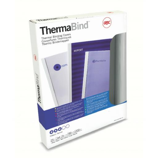 GBC 1.5mm Standard Thermal Binding Cover A4 White (Pack of 25) 45445U