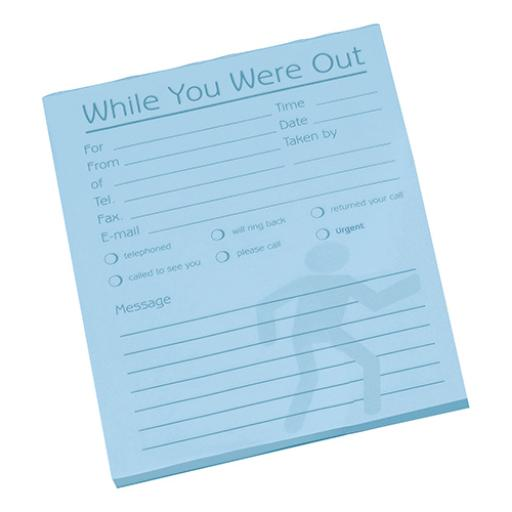 Challenge While You Were Out Messgae Pad 80 Sheets 127x102mm Pale Blue Paper [Pack 10]