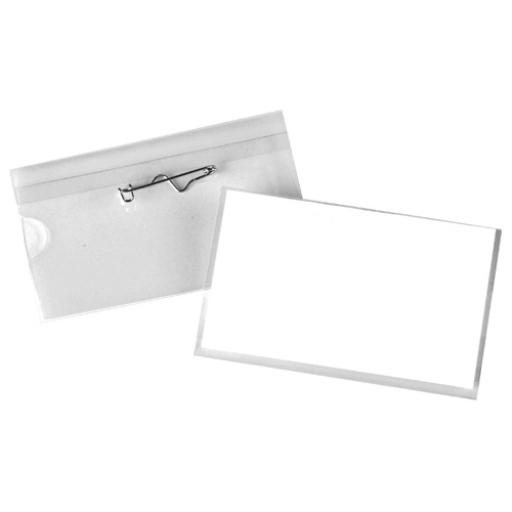 Pin Name Badge 40x75mm 8009299 (Pack of 100)
