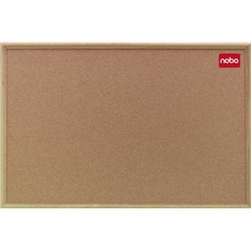 Nobo Classic (600x450mm) Cork Noticeboard with Oak Frame and Wall Fixing Kit