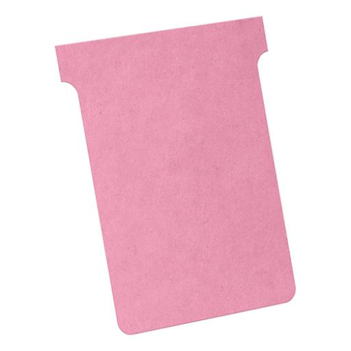 Nobo T-Cards 160gsm Tab Top 15mm W93x Bottom W80x Full H120mm Size 3 Pink Ref 2003008 [Pack 100]