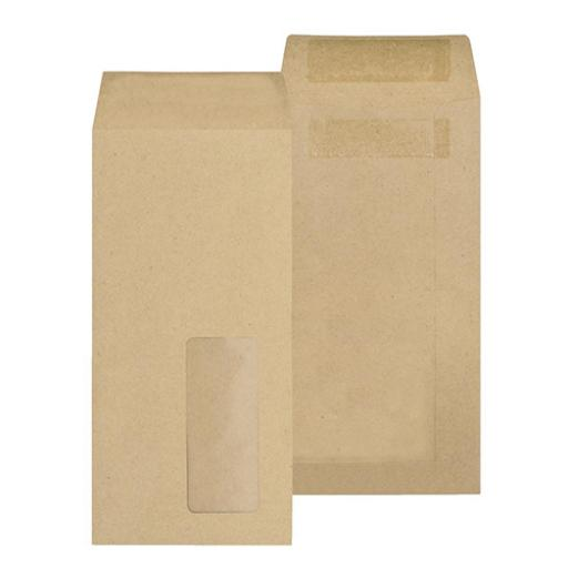 New Guardian Envelopes Pocket Self Seal Window 80gsm DL 220x110mm Manilla Ref D25311 [Pack 1000]