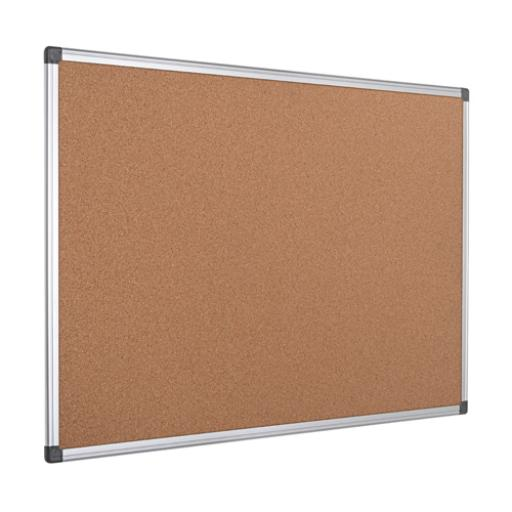 Bi-Office Aluminium Frame Cork Notice Board 900x600mm CA031170