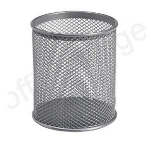 Wire Mesh Pencil Holder (Silver)