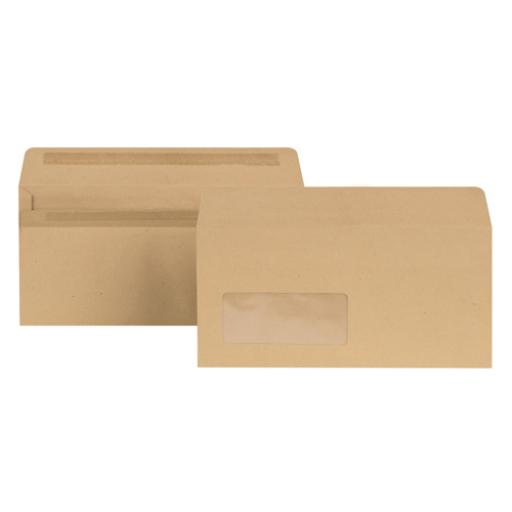 New Guardian DL Window Envelopes 80gsm Self Seal Manilla (Pack of 1000) E22211