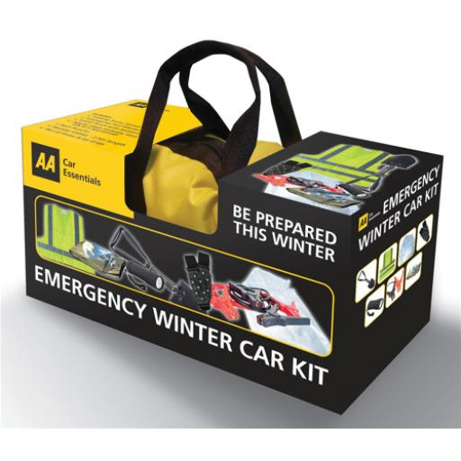 AA Emergency Winter Car Kit Comprehensive in Zipped Canvas Bag Ref 5060114615281 *2017 Mailer*