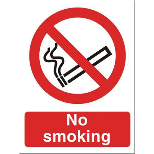 Stewart Superior No Smoking Sign W150xH200mm Self-adhesive Vinyl Ref P089PVC