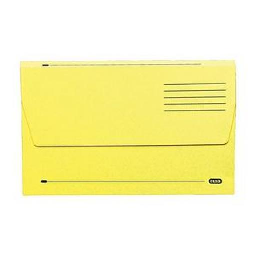 Elba (A4) Document Wallet Half Flap Mediumweight 285gsm Yellow (Pack of 50)