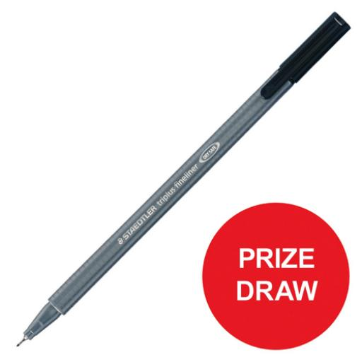 Staedtler Triplus Fineliner Pen Ergonomic Black Ref 334-9 [Pack 10] [Competition Offer] Jan-Dec 2017