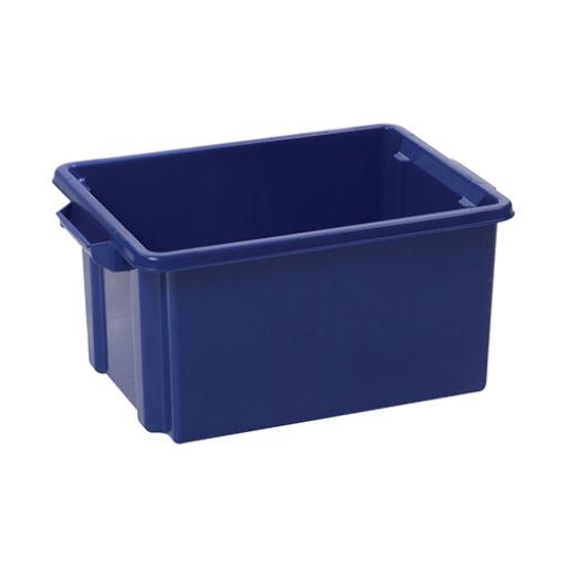 Strata Storemaster Jumbo Crate External W560xD385xH280mm 48.5 Litres Blue Ref HW48