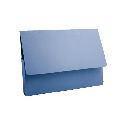 Guildhall A4 Document Wallet 285gsm Blue PDW4-BLUZ Pack of 50
