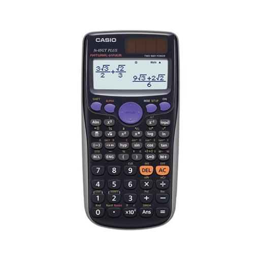 Casio Scientific Calculator Natural Display 260 Functions 80x11x162mm Black Ref FX85GT