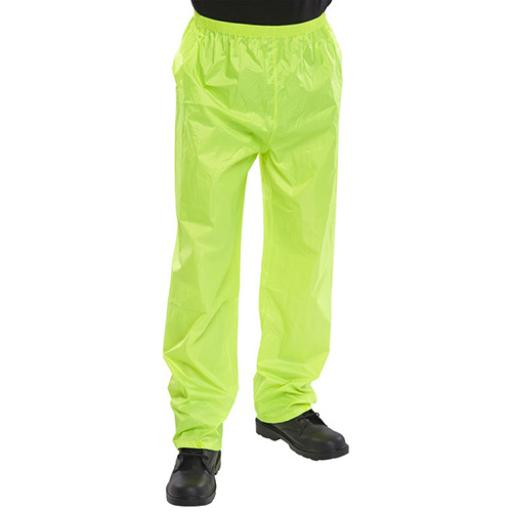 B-Dri Weatherproof Nylon B-Dri Trousers Saturn Yellow L
